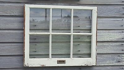 VINTAGE SASH ANTIQUE WOOD WINDOW PICTURE FRAME PINTEREST RUSTIC 30x25 + hardware