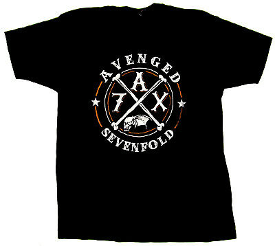 AVENGED SEVENFOLD T-shirt A7X CROSSING OVER 2014 Tour Tee Adult XL Black New