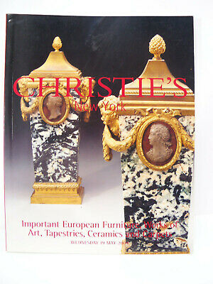 Christie's Auction Catalog Important European Furniture Ceramics Art May 2004 NY
