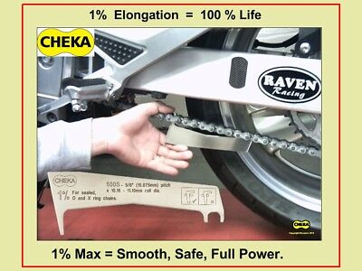 Chain Cheka Motorcycle Chain Wear Gauge Tool O-Ring X-Ring 5/8 520 525 530 & 532