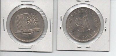 MALAYSIA $1 (1971) Uncirculated large Coin. Beauty!