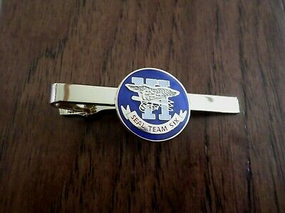 U.s Military Navy Seal Team Six 6 Tie Bar Tie Tac Clip On U.s.a Made New Sealed