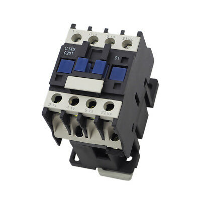 Amp Replacememt 3-phase 3 Pole CJX2-0901 AC Contactor Din Rail Mount
