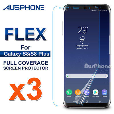 3x Galaxy S8 S8 Plus Flex Full Coverage Soft TPU Screen Protector For Samsung