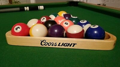 Wooden COORS LIGHT Pool/Billiards Triangle - Used