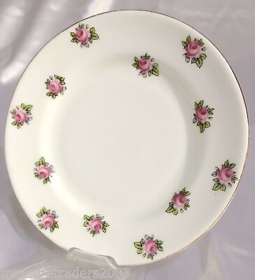 🌟 Small Side Plate Pink Rose Buds With Leaves Grafton China England