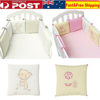 6X Baby Bed Bumpers Baby Bedding set Embroidery Comfortable back cushion pillows