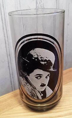 Vintage 1979 Arbys actors Collector series Drinking Glass Charlie Chaplin