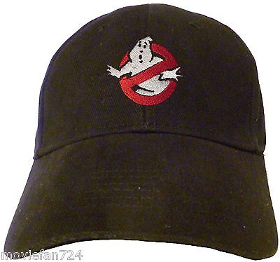 Ghostbusters Ghost Logo Embroidered Baseball Hat - Cap NEW