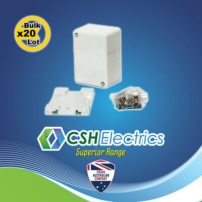 20 x Small Junction Box 32A 500V White Electrical