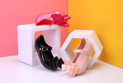 New Mini Melissa Three Layers Bowk-not Lovely Princess Girl Sandals US Size 6-11