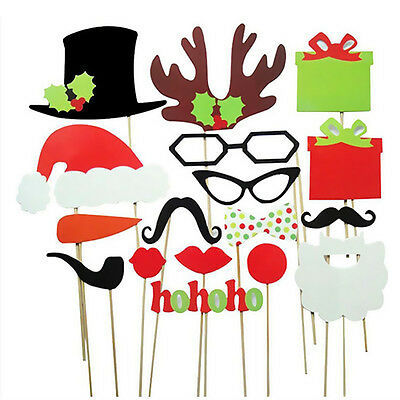 17x Christmas Photo Booth Props Mustache On A Stick Wedding Birthday Party Decor