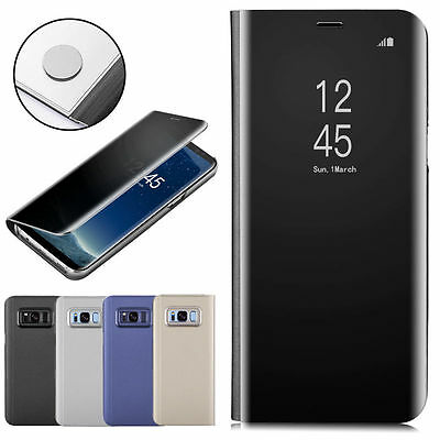 New Luxury OEM Flip Smart Mirror Leather Case Cover for Samsung Galaxy S8 Plus