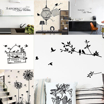 New DIY Bird Tree Removable Vinyl Wall Decal Stickers Home room Decor Art AU