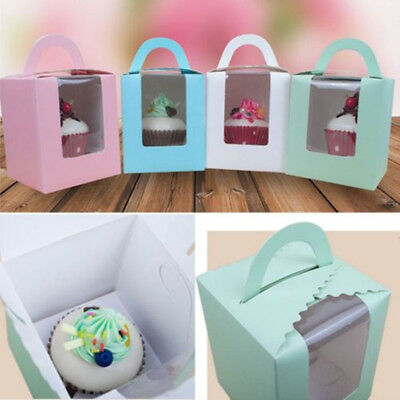 AU Single Cupcake Box with insert. Party Supplies Cake Muffin Boxes 10Pcs
