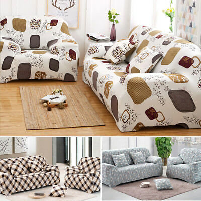 1/2/3 Seater Stretch Fit Sofa Slipcover Protector Soft Couch Covers Washable