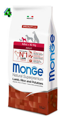 Monge Superpremium Mini Adult Agnello 7,5 kg Per Cani