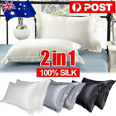 2pcs Satin Silk Pillow Cases Cushion Cover Pillowcase Home Decor Luxury