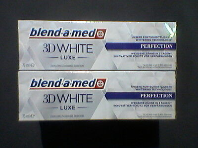 3 x    BLEND A MED 3D WHITE LUXE PERFEKTION  3 x 75ml NEU