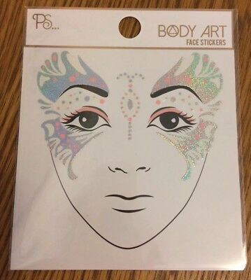 Festival Queen Body Art Face Stickers Holographic Face Gems Jewels Look