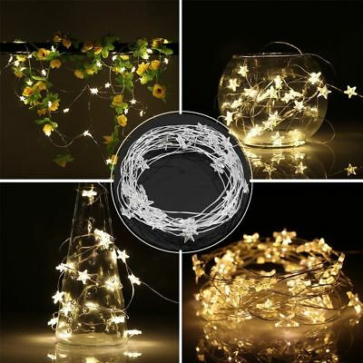 Wedding Battery Operated Mini Star Copper Wire Fairy Light 30LED String