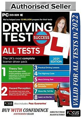 2019 Driving  Theory Test Training Hazard Perception Pc Dvd Rom