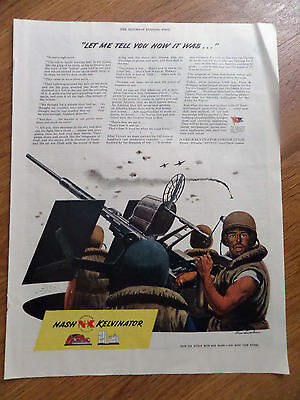 1944 Nash Kelvinator Ad WW II  Let Me Tell You How it Was