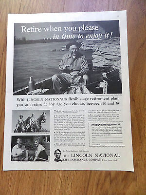 1958 Pennzoil Oil Ad 1958 Lincoln National Life Insurance Ad Paul Moore Tennesse
