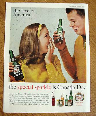 1961 Canada Dry Soda Ad   The Face is America