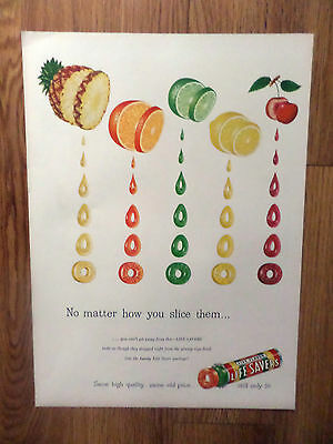1948 Life Savers Candy Ad No Matter how you slice them