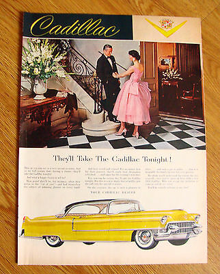 1955 Cadillac Ad  They'll Take the Cadillac Tonight