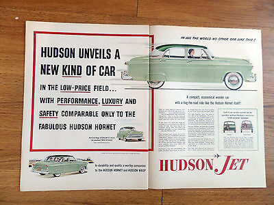 1953 Hudson Jet Ad  Unveils a New Kind of Car