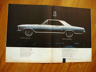 1963 Buick Riviera Ad   Male or Female? He or She?