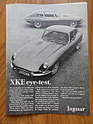 1968 Jaguar Ad XKE Coupes     eye-Test
