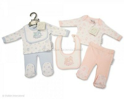 Premature Preemie Tiny Baby Boy Girls Clothes 3 Piece Set 3 - 8 lbs Pink Blue