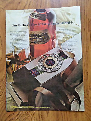 1968 Johnnie Walker Whiskey Ad  For Father's Day If Father can afford it