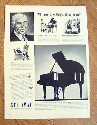 1940 Steinway Piano Ad The Instrument of the Immortals
