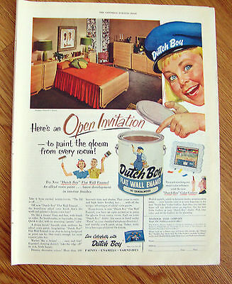1954 Dutch Boy Paints Ad  Open Invitation