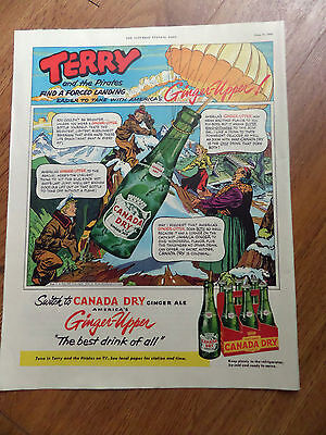 1953 Canada Dry Ginger Ale Soda Ad Terry & the Pirates