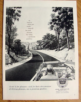 1957 Ethyl Gasoline Ad Convertible Ford Plymouth Olds?