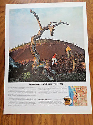 1962 Ethyl Gasoline Ad Lava Beds of Southern Oregon