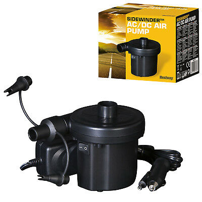 Sidewinder 240/12V AC/DC Powered Air Pump Travel Car Adapter Inflatable Airbeds