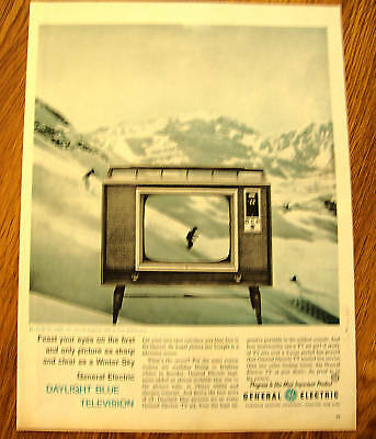 1960 GE General Electric TV Ad Daylight Blue M750 VMP