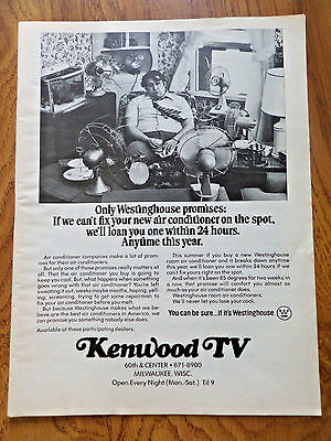 1973 Kenwood TV Milwaukee Wisconsin Ad Westinghouse Air Conditioner
