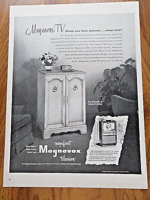 1953 Magnavox TV Television Ad  The Normandy 21