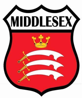 2 x Middlesex Flag Decal Car Motorbike Laptop Window Sticker - Free P & P