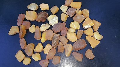 GENUINE BALTIC AMBER. RAW STONES  128 gr.  YELLOW  ~~