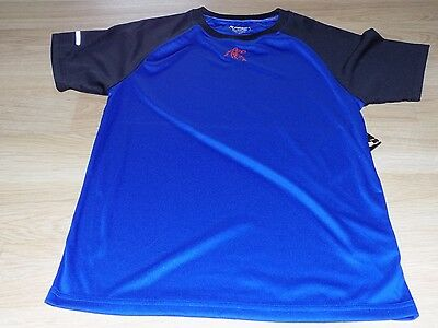 Boy's Size Small 6-7 AND1 Blue Black Basketball Innovator S/S Tee Shirt Top New