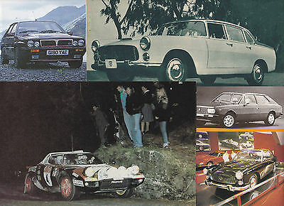 145 LOT LANCIA Autos, Vintage, Historic & Racing, Huge Variety of Magazine Clips