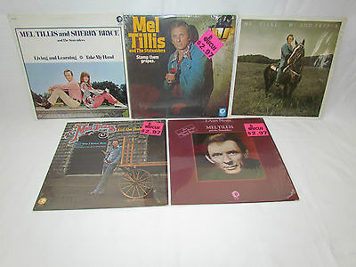 MEL TILLIS 5 LP RECORD ALBUMS LOT COLLECTION Never/Me and Pepper/Stomp Grapes